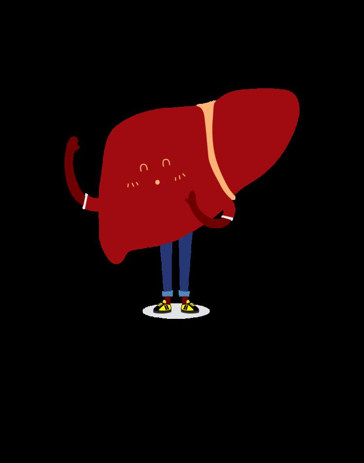 Cartoon of liver